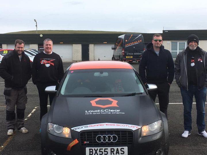 Racing Awareness Scotland Loud & Clear car